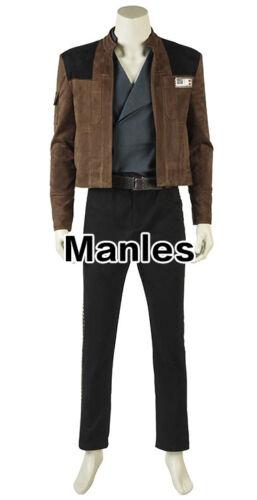 Solo A Star Wars Story Han Solo Costume Cosplay Halloween Fancy Dress Men Suits
