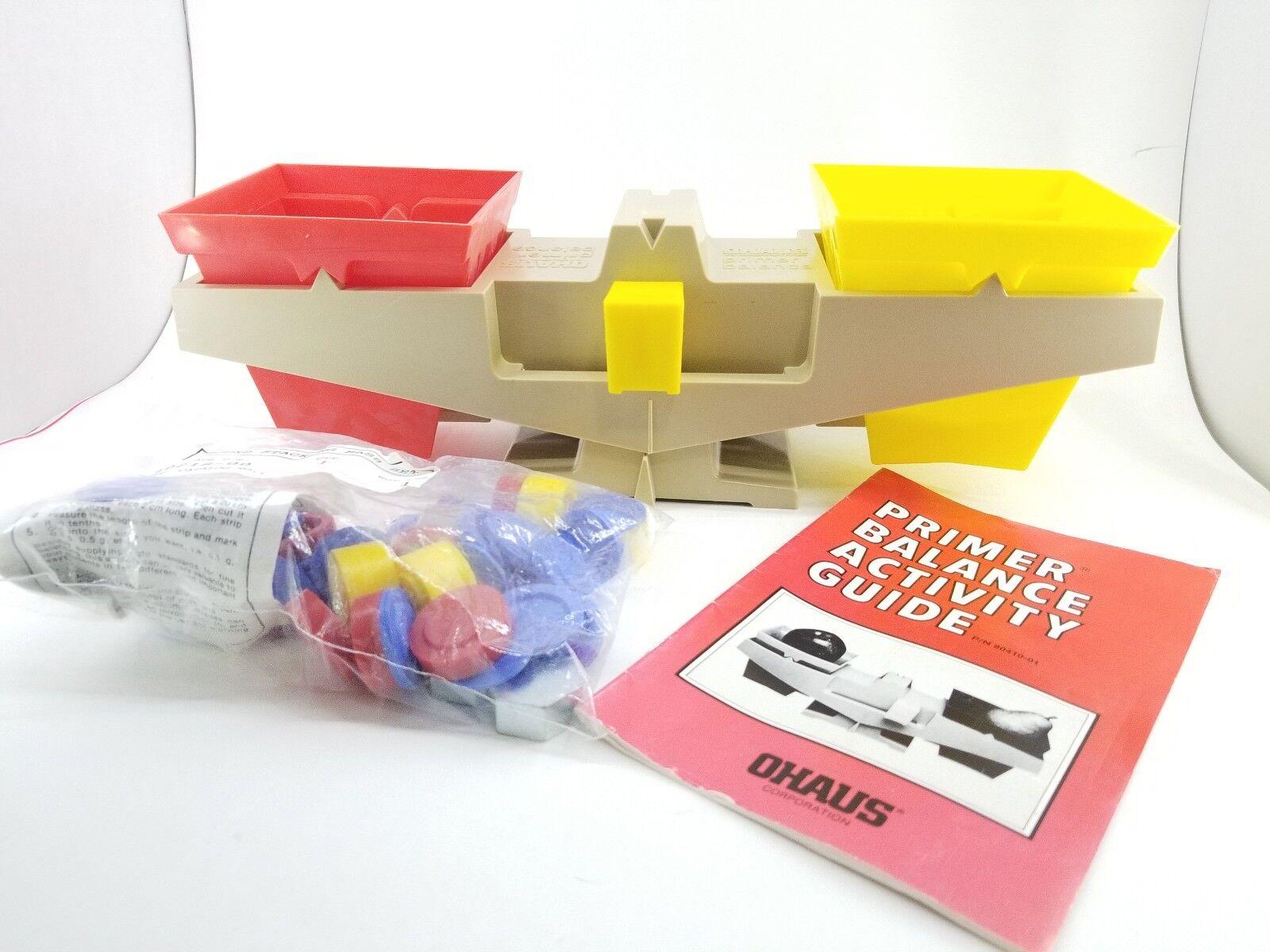 Ohaus primer balanza 1976 Edu Aprender Juguete Actividad aula visual nuevo viejo stock Caja
