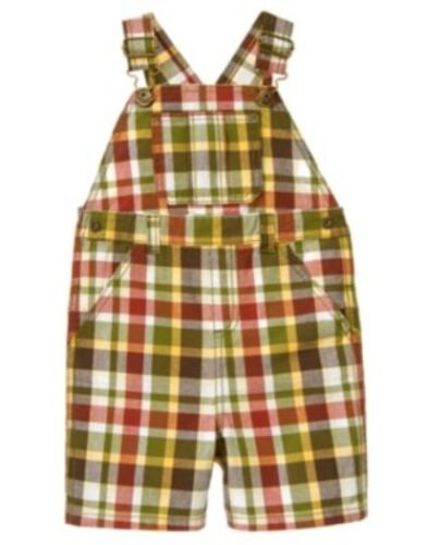 GYMBOREE OUTBACK ADVENTURE PLAID WOVEN OVERALLS 3 6 12 18 2T 3T NWT