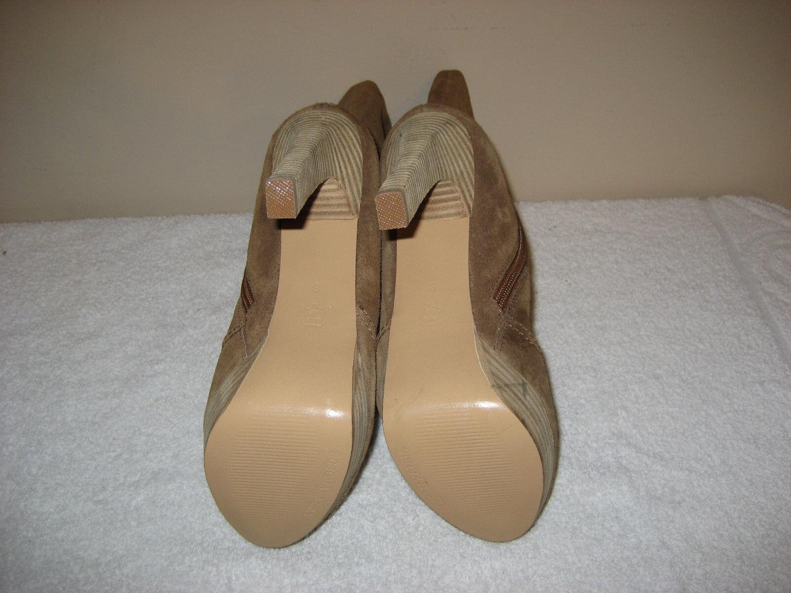 Brown Suede BCBG AUBREY ALL LEATHER TALL Heel Heel Heel Boots SIZE 8 975a9e