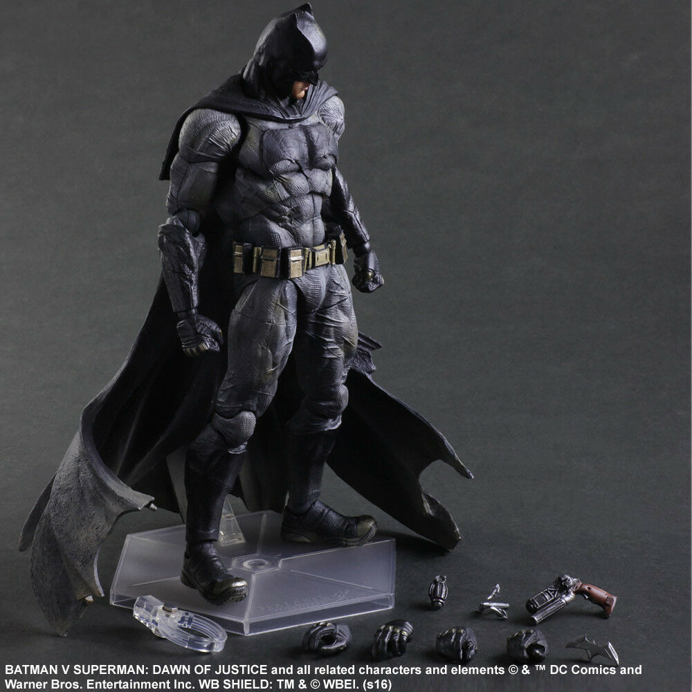 SQUARE ENIX Play Arts KAI Dawn of Justice Batman Action Figure Model Toy 25CM
