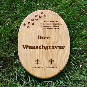 Holztafel oval für Grabtafel Holzschild 18x26cm inkl.Gravur Beschriftung