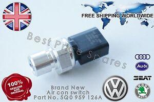 NEW AUDI VW SKODA AIR CON CONDITIONING A/C HIGH PRESSURE SENSOR SWITCH 5Q0959126
