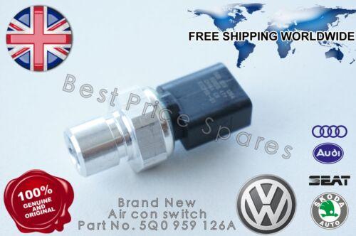 NUOVO Audi VW Skoda con aria condizionata A//C AD ALTA PRESSIONE SENSOR SWITCH 5Q0959126