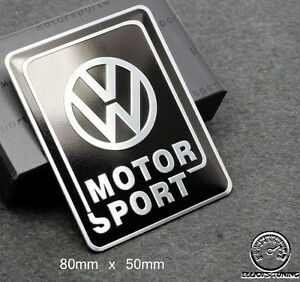 volkswagen motorsport badge emblem fits bksil vw golf. Black Bedroom Furniture Sets. Home Design Ideas