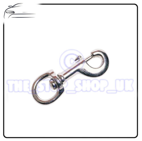 "SWIVEL SNAP HOOK 2 X 1//2/"" BELT KEY ID HOOK CLIP X1 TM869"