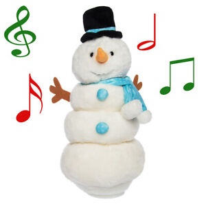 Singing-Dancing-Snowman-Plush-Animated-Stuffed-Animal-Toy-Snowman-Decorations