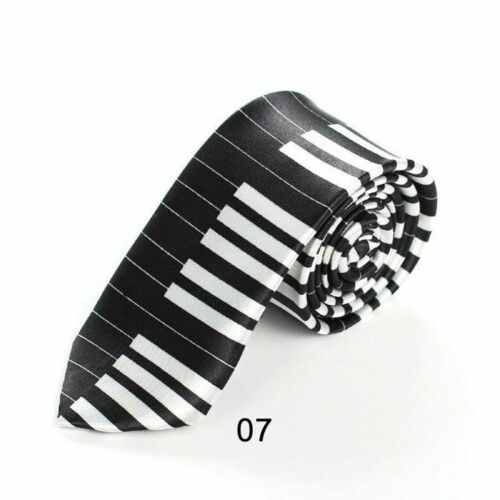 Music Note Print Men/'s Neck Ties Fashionable Printed Pattern Suit Accessory Wear