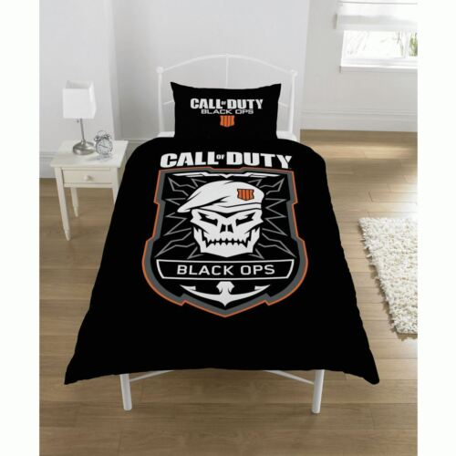 Call of Duty Black Ops 4 Single//Double Reversible Duvet Cover Bedding Set