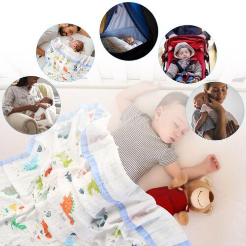 Cute Newborn Baby Blanket Swaddle Muslin Wrap Swaddling Bamboo Fiber Toddler
