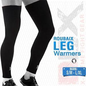 L//XL Cycling Leg Warmers Winter Running Thermal Roubix Cycle Knee Blue S//M