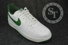 NIKE AIR FORCE 1 ONE LOW RETRO 845053-101 SUMMIT WHITE FOREST GREEN DS SZ: 10.5