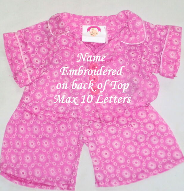41a0e73a69c Teddy Clothes Pink Dressing Gown Slippers Outfit Personalised Fits ...
