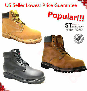 LM Men's All Season Work Boots Casual Shoes Water Resistant Genuine Leather 6011