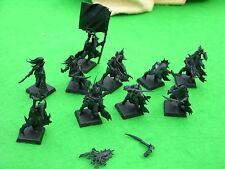 Warhammer Dark Elf, Black Ark Corsarios X10, undercoated