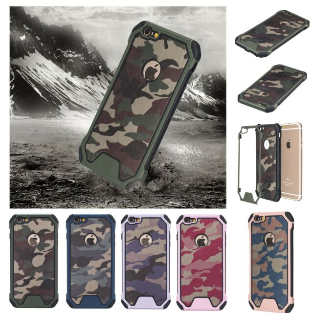 huge selection of 69ff9 7b6b5 2 in 1 Shockproof Camouflage Case Cover For iPhone 7 6 6s 8 Plus X 5 5s SE  iPod