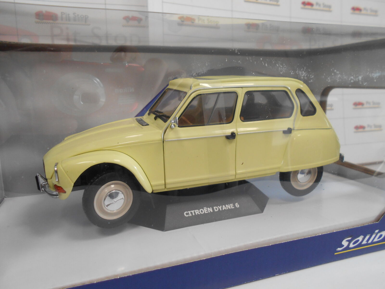 SOLS1800306 by SOLIDO' CITROEN DYANE 6 yellow CLAIRE 1967 1967 1967 1 18 d8f231