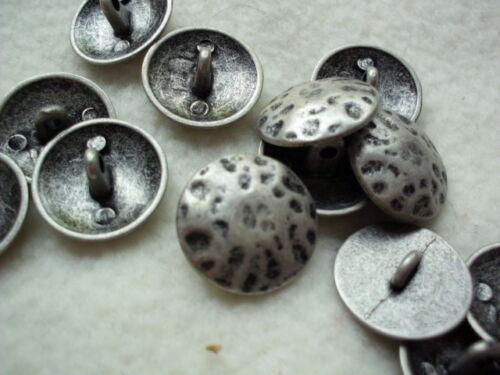 Manteau métal bouton altsilbern geklopfte optique Bouton Button BOTÓN düğme Guzik