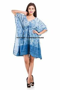 a69fe654bf0 Image is loading Indian-Kaftan-Abstract-Printed-Short-Plus-Size-Women-