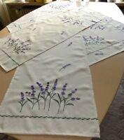 Tischläufer/ Mitteldecke Lavendel Motiv In Vanille/flieder - 3 Größen