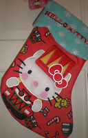 Stocking Hello Kitty Red Large Plush Christmas Embroidered Cuff Soft Sanrio