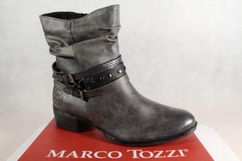 leicht gefüttert 25316 NEU!! Marco Tozzi Stiefel grau Stiefelette