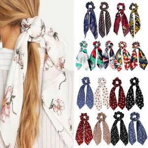 Girls-Elastic-Fabric-Ribbon-Bow-Hair-Tie-Rope-Women-Hair-Band-Scrunchie-Ponytail