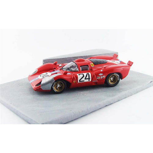 FERRARI 312 P COUPE' N.24 4th DAYTONA 1970 PARKES-POSEY DIORAMA 1:43 Best Model