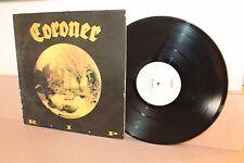Coroner R.I.P. vinyl LP Noise International white label includes original inner
