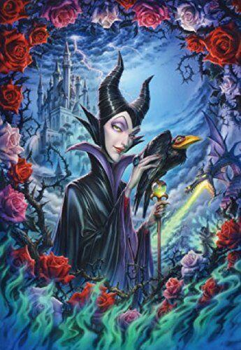 Tenyo Sleeping Beauty Dark Beauty Maleficent Puzzle 51x73.5 D1000-437 Japan Nuovo
