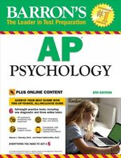 Barron's AP Psychology, 8th Edition : With Bonus Online Tests by Robert McEntarffer and Allyson Weseley Ed.D. (2018, Paperback, Revised)