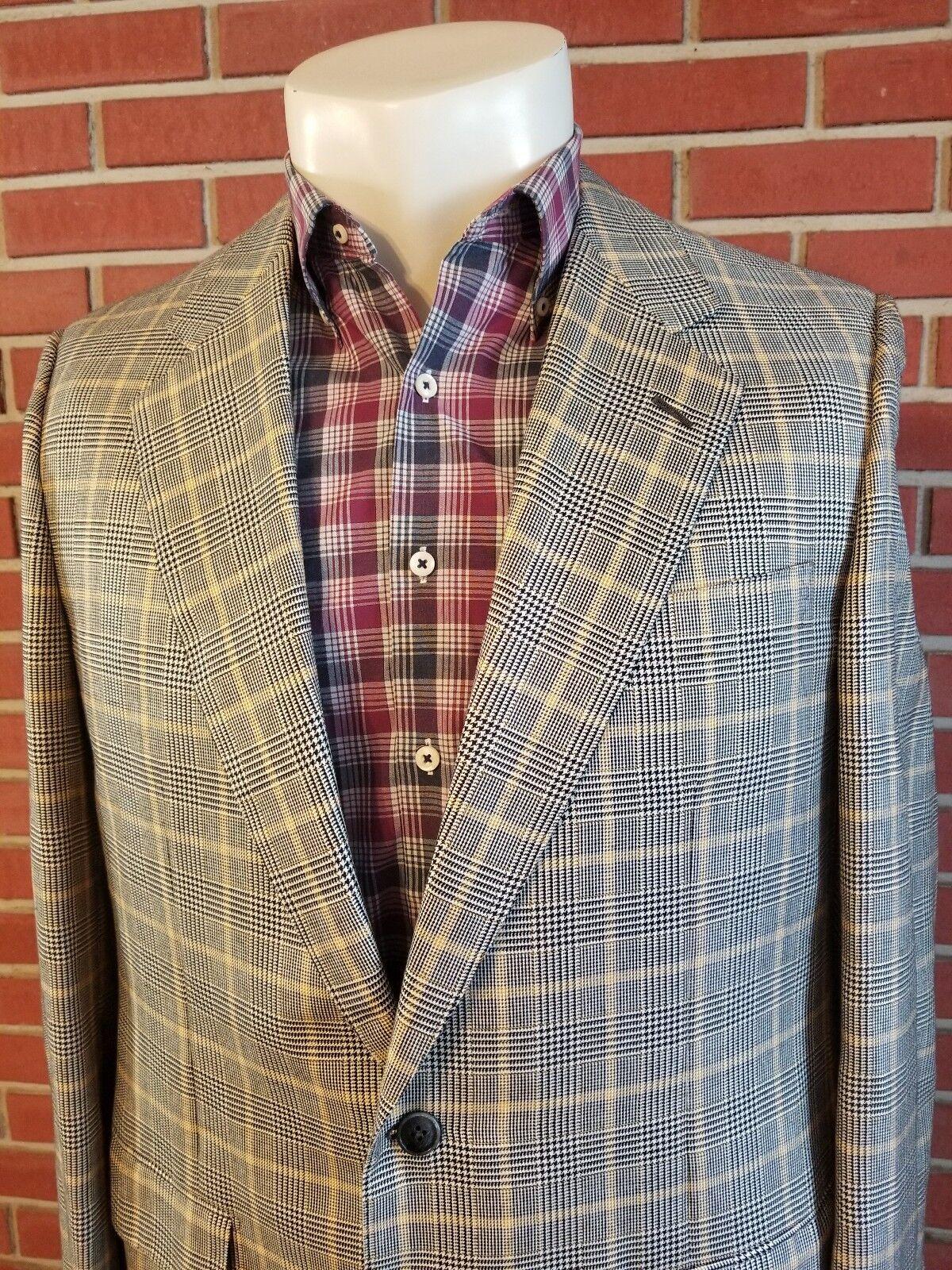 Solemare Maus & Hoffman 2-Button Mens Blazer 44L Made in  Silk Wool EUC