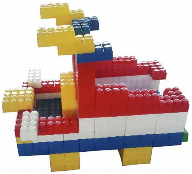 Game Movil Giant Blocks Boat - 192 Pieces.