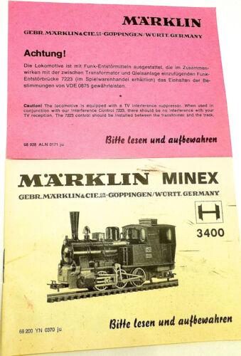 3400 Anleitung Märklin Minex 68 200 YN 0370 ju å √