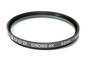 52mm-High-Quality-Glass-Kood-Star-4-Filter-Made-in-Japan-4-Point-4PT