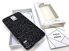 Samsung Galaxy S5 Genuine Swarovski Crystal Case Battery Back Cover Black