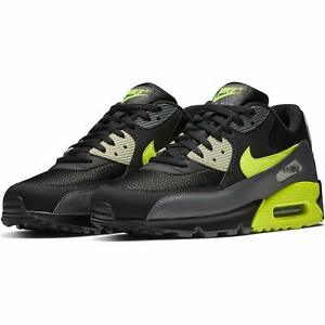 Nike Air Max 90 Essential Dark Grey Volt Green Black AJ1285