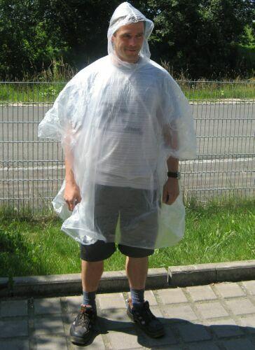 5 Stück Regen Poncho transparent Cape Urlaub Wandern Sport Freizeit