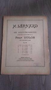 H-Leonard-Six-Solos-Per-Violino-OP-62-Spartiti-Costallat-Parigi-4-Persiane