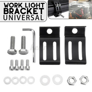 2PCS-Aluminum-Universal-LED-Work-Light-Bar-Mounting-Bracket-For-Car-Offroad-R