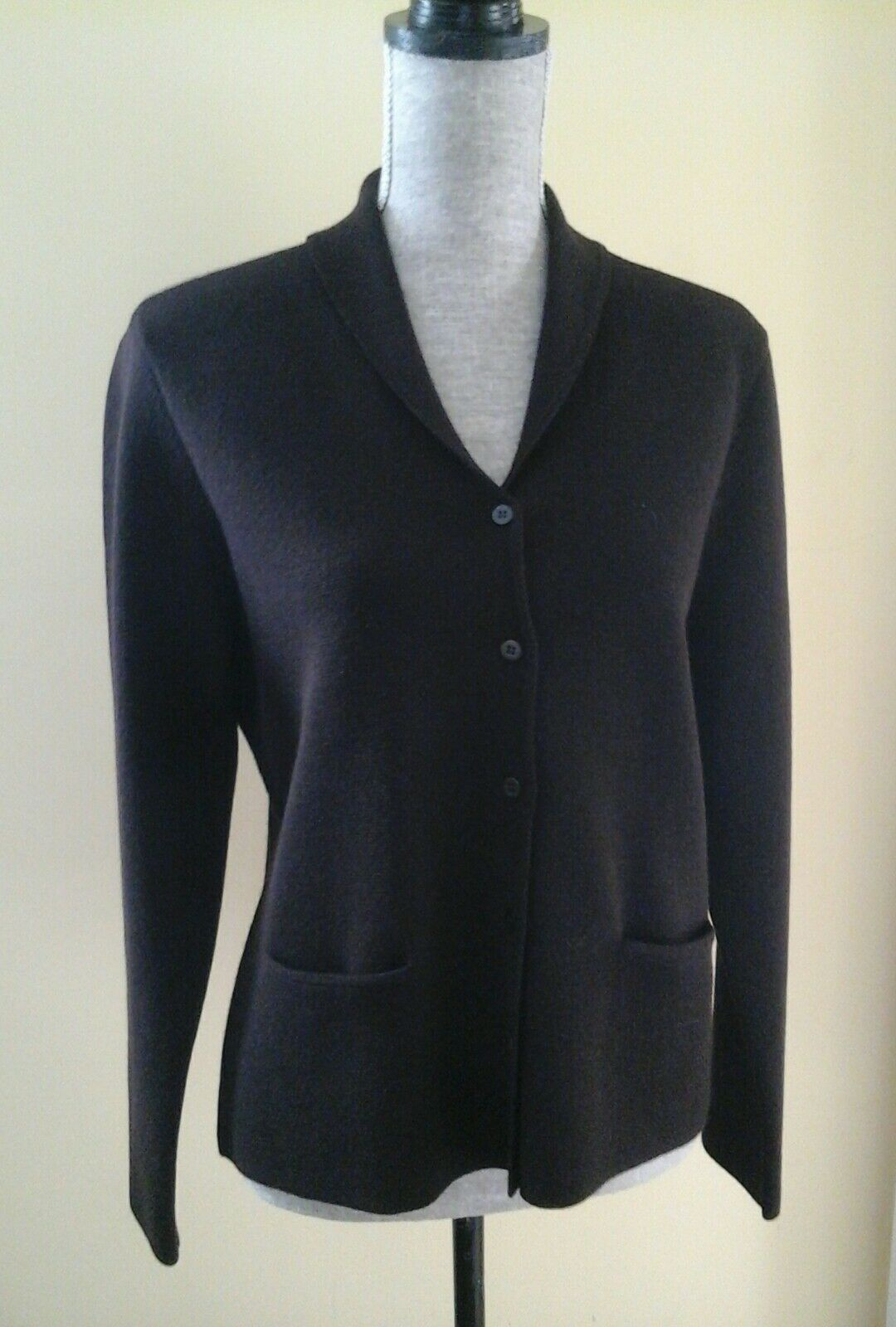 BEAUTIFUL BEAUTIFUL BEAUTIFUL EILEEN FISHER WOMAN'S CARDIGAN BLAZER BROWN SIZE P L ITALIAN EXCELLENT 3d8daf