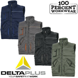 Heavy-Duty-Mens-Work-Padded-Quality-Bodywarmer-Gilet-Body-Warmer-Vest-Delta-Plus