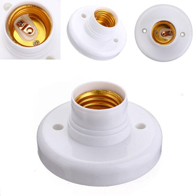 E27 Edison Screw Cap Socket Light Bulb Holder Fitting ES Lamp Fixing Base Stand