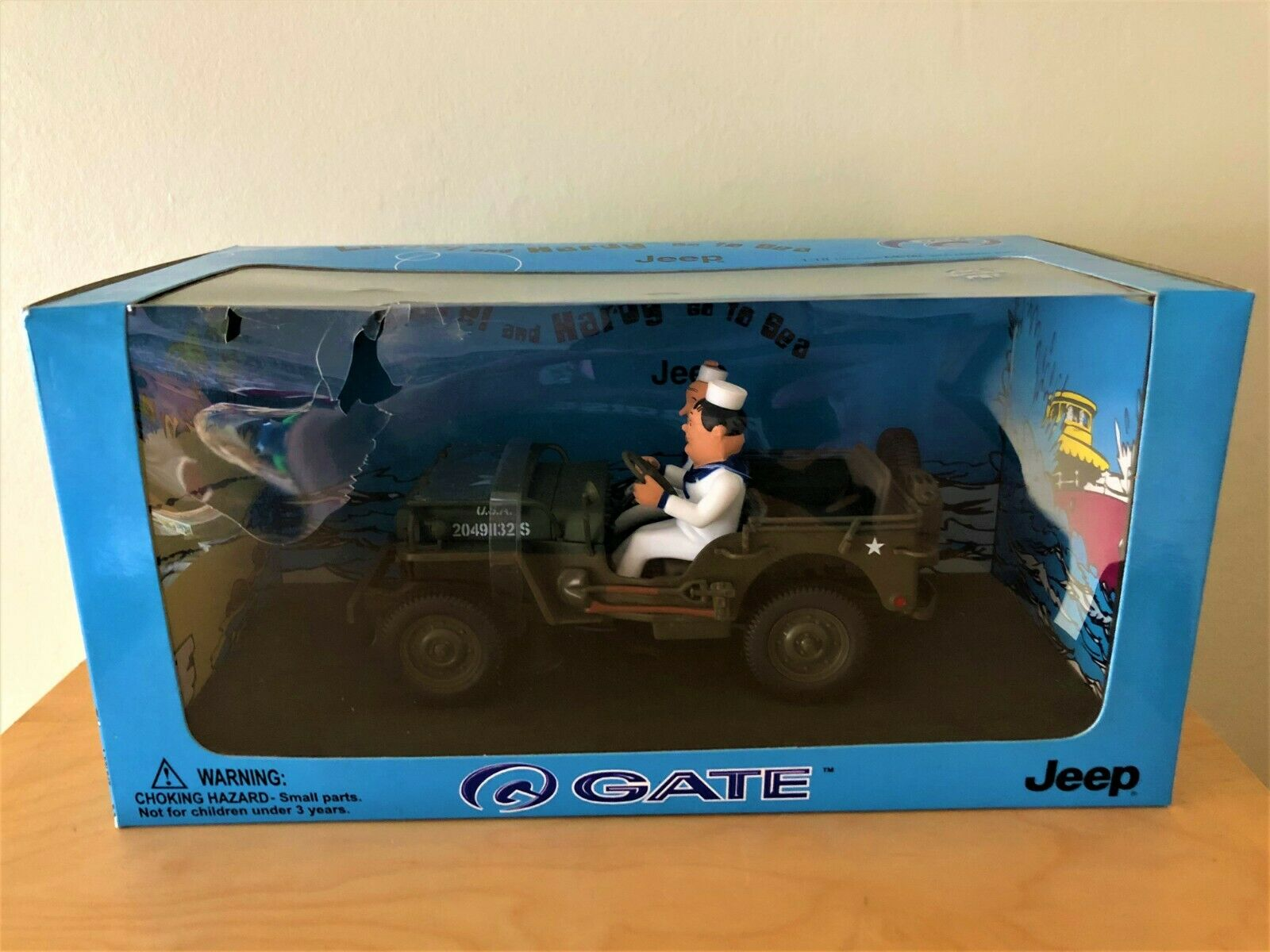 Collectable & Rare Diecast GATE Laurel & Hardy Go To Sea Jeep Boxed 1 18