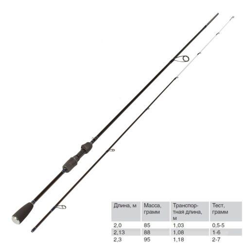 VOLZHANKA STILET UL Microjig Light Fishing Spinning Rod Finezza Solid Tip