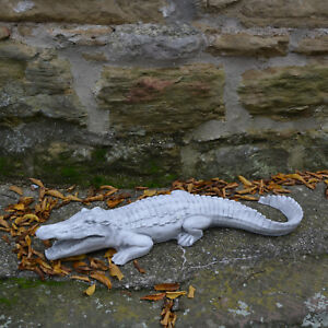 Delightful ... Grand Massif Sculpture En Pierre Crocodile Decoration De