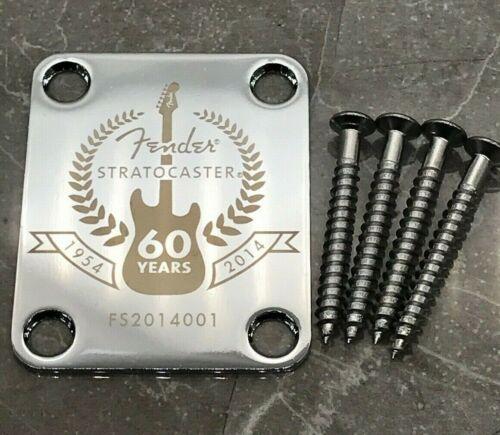 Halsplatte Fender 60 Years für Fender Stratocaster in Chrom