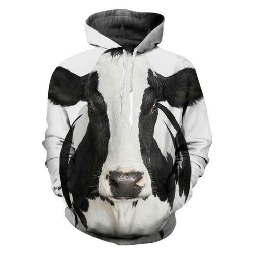 Cow Funny 3D Print Hoodies Fashion Men Women Casual Pullover Sweatshirts Tops
