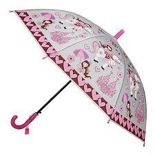 Pink Princess Bright and Dazzling Childrens  Automatic Umbrella Kids Rain/Sun UV