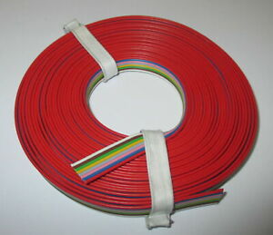 1-39-M-Cable-Band-8-fach-Stranded-Wire-5-Meter-8-Colors-New